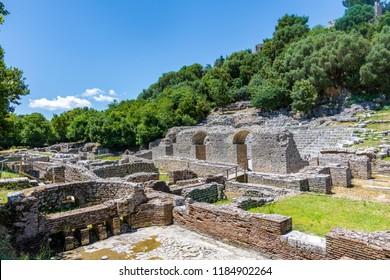 Butrint, Albania - May 12 2018: Unesco World Heritage Site - Butrint