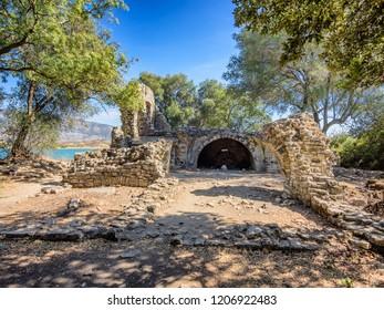 Butrint baptistery area ancient city, Albania