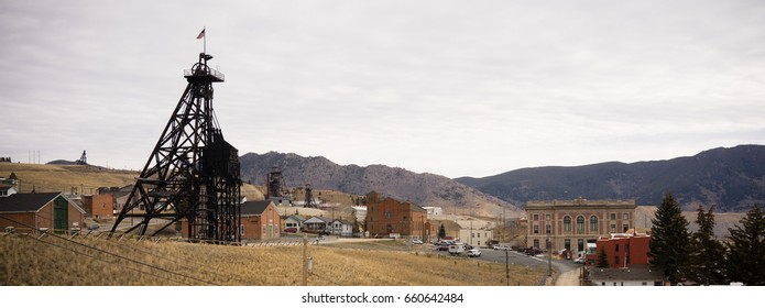 Butte Montana Downtown City Skyline Mine Shaft Courthouse