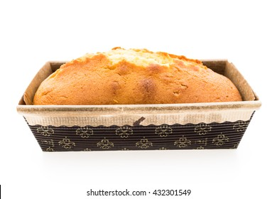 Butter cake isolated on white background