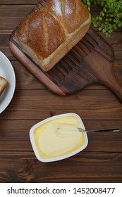 Butter is the food which solidified discrete cream from milk.