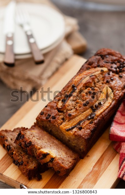 Butter Free Sugar Free Banana Bread Stock Photo Edit Now