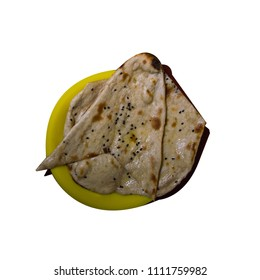 butter naan on a plate