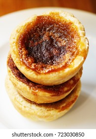 Butter Tarts Stack on White Plate