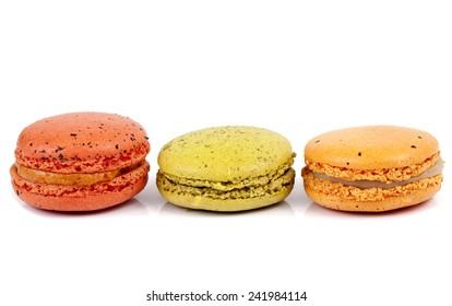 Buttercream Macaron on white background