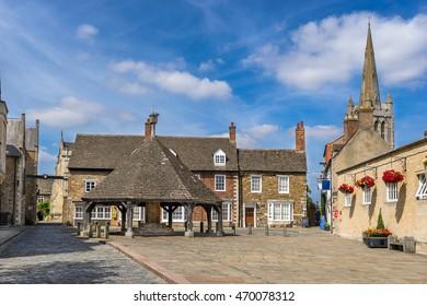 Buttercross  in the town of Oakham in Rutland