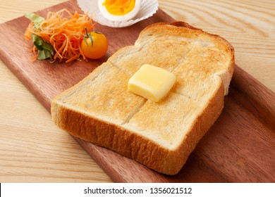 buttered toast plate