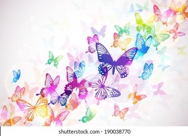 Butterflies background