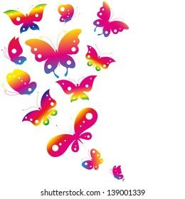 butterflies summer design