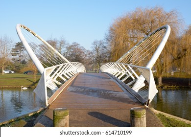The Butterfly Bridge spanning the River Ouse in Bedford, Bedford
