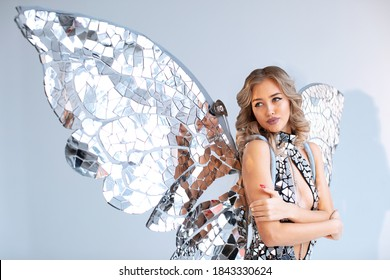 Butterfly girl costume party mirror suit