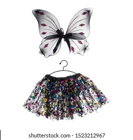 Butterfly Kids dance Wear, Ballerina Tutu Mini Skirt and butterfly