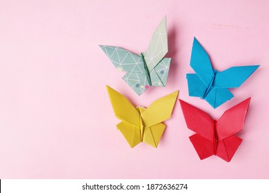 Butterfly Origami Paper Craft Colorfull