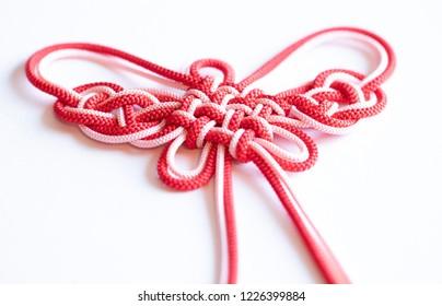 Butterfly patterned Japanese knot