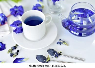 butterfly pea flower, blue tea.