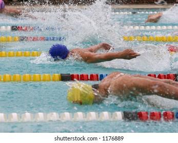 Butterfly swim stroke race