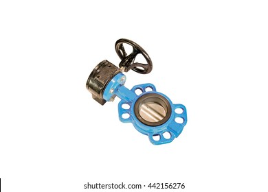 Butterfly valve isolated on white background