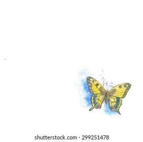 Butterfly (watercolor-frame)