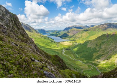 Buttermere and Warnscale Bottom from Green crag, The Lake District, England