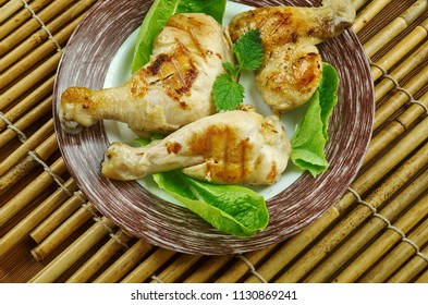 Buttermilk Brined Grilled Chicken , soaked in a mixture of buttermilk, brown sugar, and hot sauce to ensure flavor and juiciness