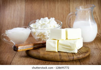 butter,milk and cottage