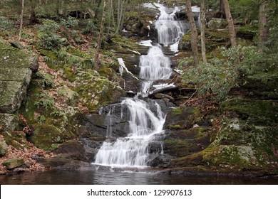 Buttermilk Falls in the Delaware Water Gap National Recreation Area in New Jersey