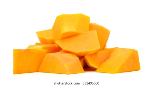 butternut squash isolated on white