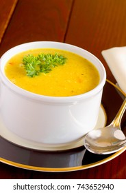 Butternut squash soup, health lunch or entrée for your Thanksgiving dinner