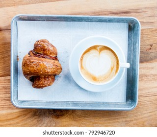 Buttery Croissant and Latte