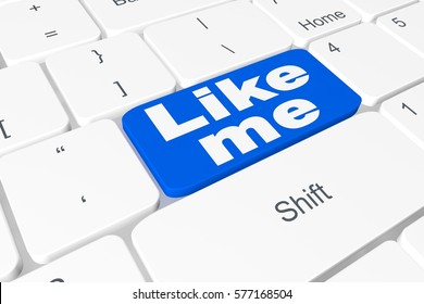 """Button """"Like me"""" on 3D keyboard"""