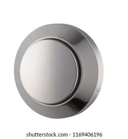 button metal closeup