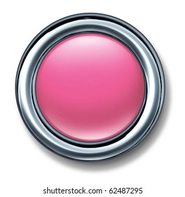 button pink dainty girls candy color isolated
