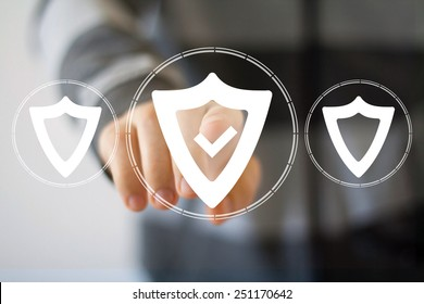 Button shield security virus icon business web icon