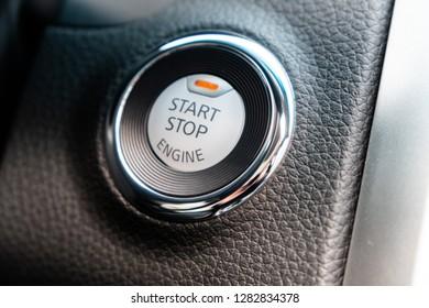 button of  start  engine
