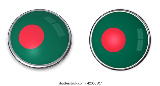 button style banner in 3D of Bangladesh