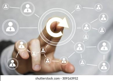 Button update business online web sign