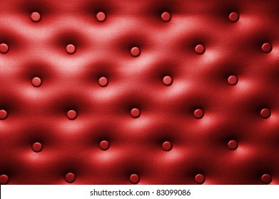 Buttoned leather background