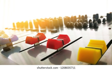 buttons equipment for sound mixer control,red botton,Yellow botton