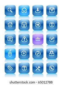 Buttons for internet. Icons for websites and interface elements. Raster version. For vector version of this image, see my portfolio.