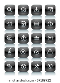 Buttons for internet. Icons for websites and interface elements. Raster version. Vector version is also available.