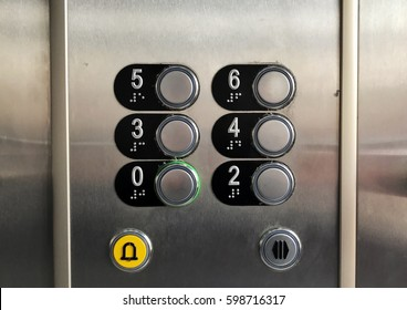 Buttons of old elevator
