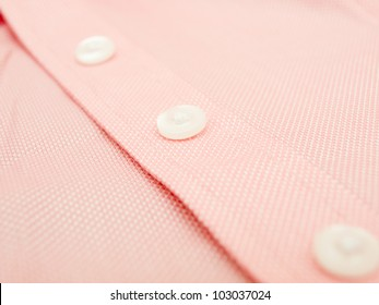 Buttons on a finest quality shirt - close up