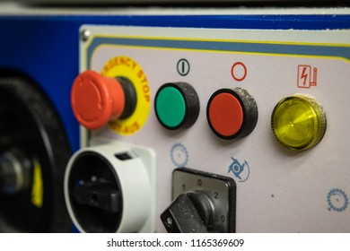 buttons on a machine