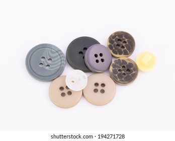 Buttons on white background