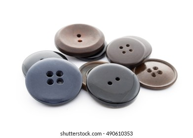Buttons on a white background