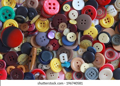 Buttons This is an image of a group of sewing buttons