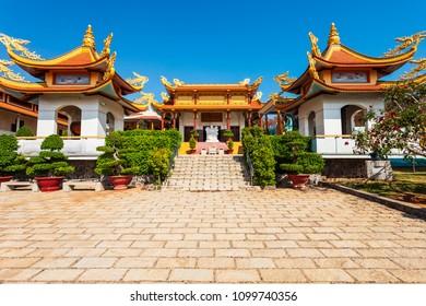 Buu Son Buddhist Temple near the Poshanu or Po Sahu Inu Cham Tower in Phan Thiet city in Vietnam