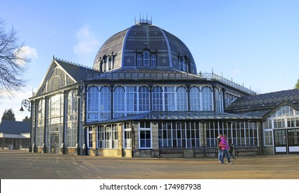 BUXTON, UK - FEBRUARY 2014: Buxton Pavilions, Derbyshire, February 2nd 2014. The spa town of Buxton is a finalists in an awards ceremony celebrating the British Isles' most attractive places.