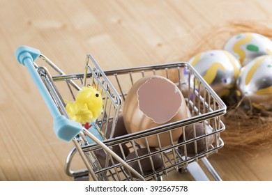 buy chocolate eggs and colored eggs for Easter Day