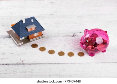 buy a house, home savings or real estate investment concept